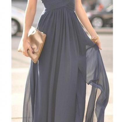 Ocean of Elegance Navy Blue Maxi Dr..