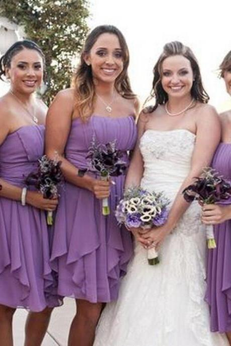 Short bridesmaid dress,chiffon bridesmaid dress,cheap bridesmaid dress,irregular bridesmaid dress,popular bridesmaid dress