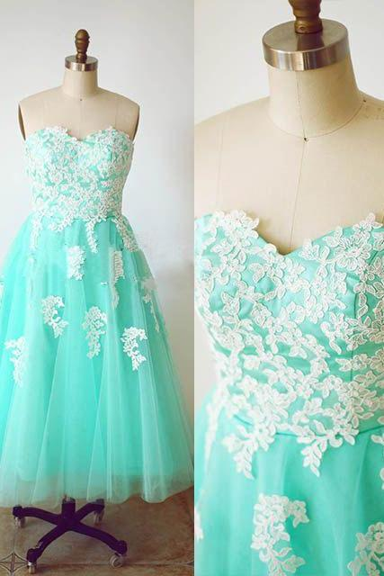 Charming Prom Dress,Sweetheart Prom Dress,A-Line Prom Dress,Appliques Prom Dress,Tulle Prom Dress